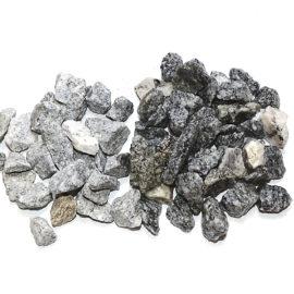 Lysgrå granitskærver